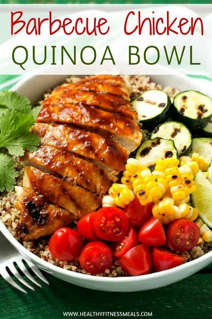 Chicken Quinoa Bowl Barbecue Chicken Quinoa BowlBarbecue Chicken Quinoa Bowl  Prepara estas fiestas