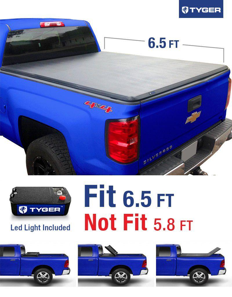 hight resolution of tyger auto tg bc3c1007 tri fold truck bed tonneau cover 2014 2018 chevy silverado gmc sierra 1500 2015 2018 silverado sierra 2500 3500 hd fleetside