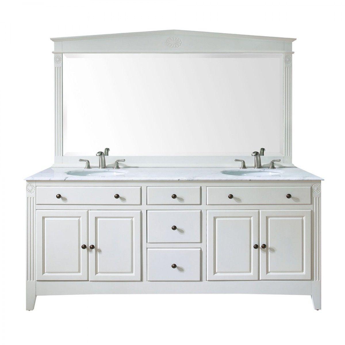 Somerset Double Vanity Antique White Vanities Bathroom Vanity White Vanity Bathroom Double Vanity