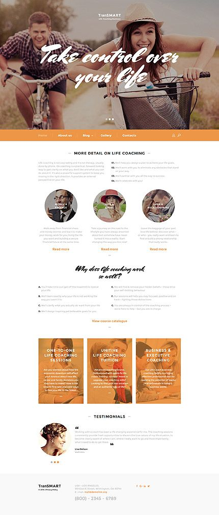 Life Coaching Business #website #template. #themes #business ...