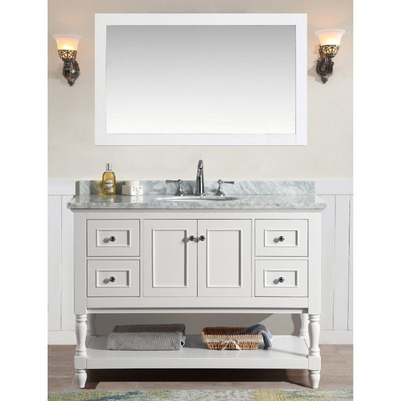 Ari Kitchen And Bath Cape Cod 48 In Single Bathroom Vanity Set With Mirror White At The Start Of Day End There S No More Relaxing Place