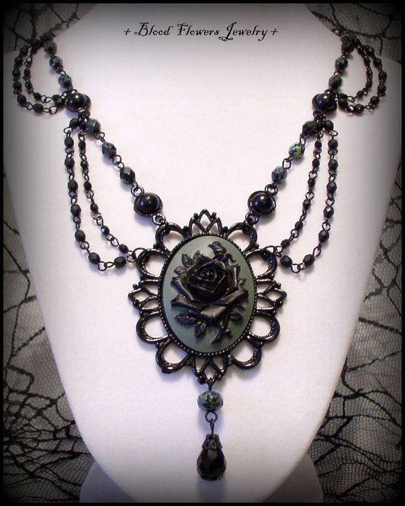 ras de cou gothique noir classique vintage Ras cou lace Sautoir Dentelle Choker