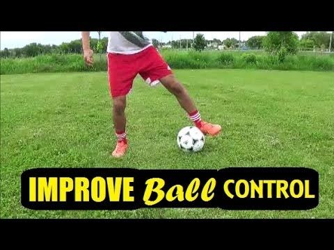 How To Improve Ball Control Dribbling First Touch Drills Soccer Youtube Soccer Training Soccer Dribbling Drills Soccer Training Drills