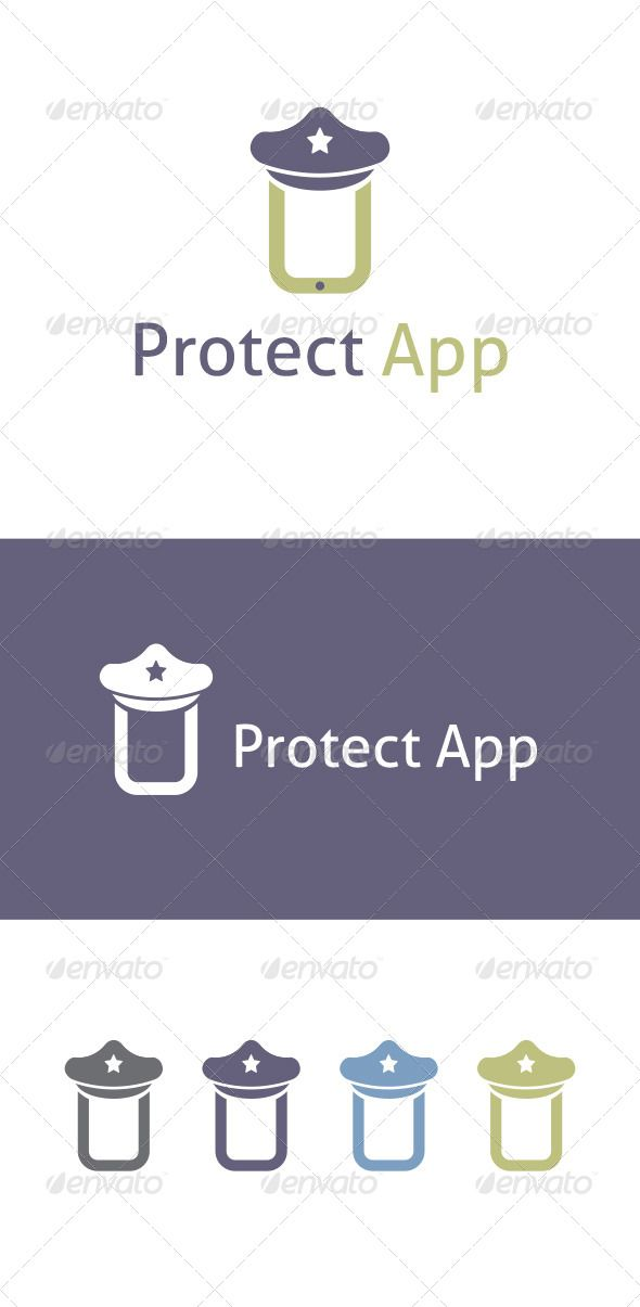 Preotect App Logo Template GraphicRiver Easy to edit with
