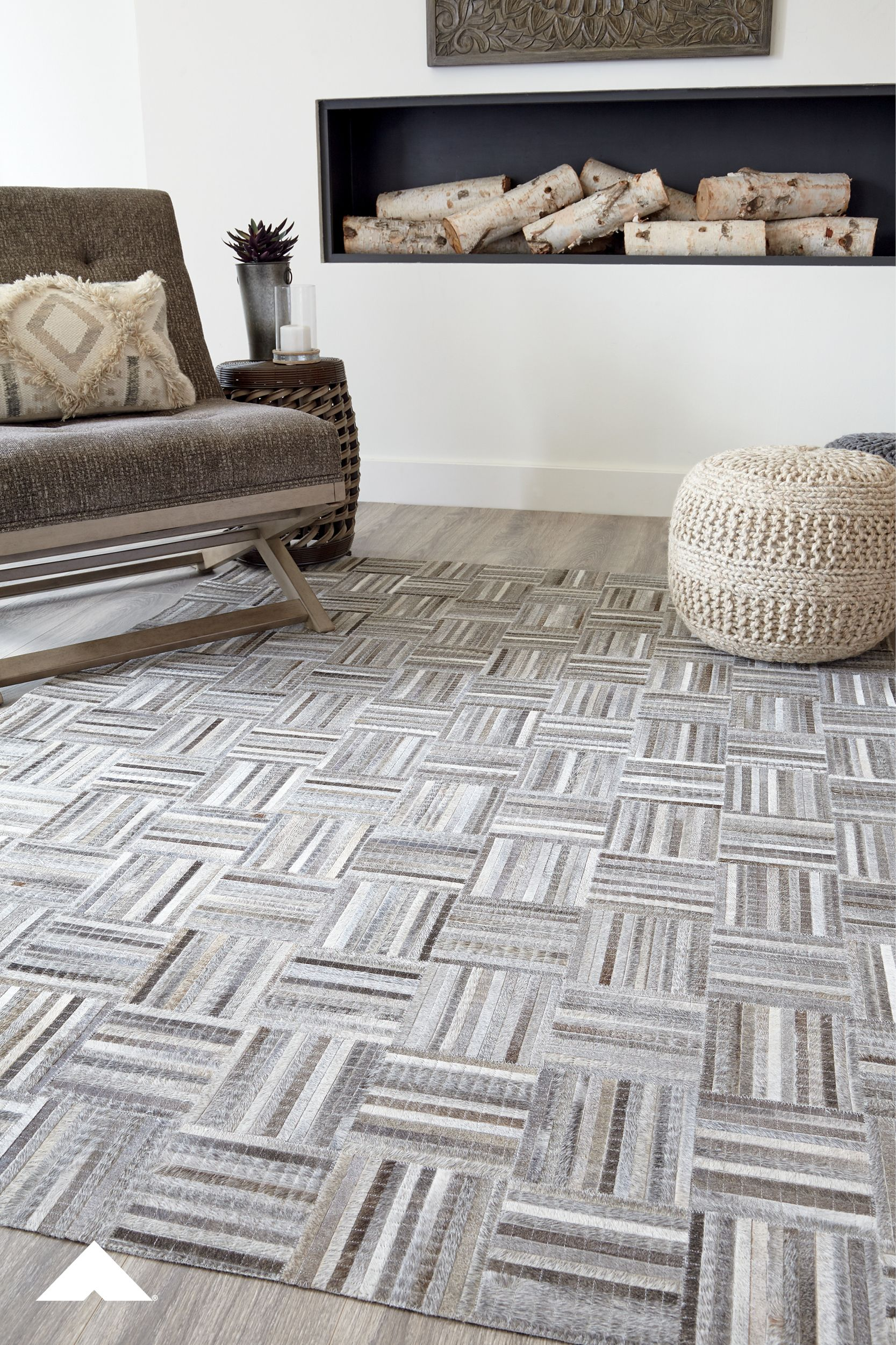 Gilham Gray Medium Accent Rug from Ashley Furniture Home