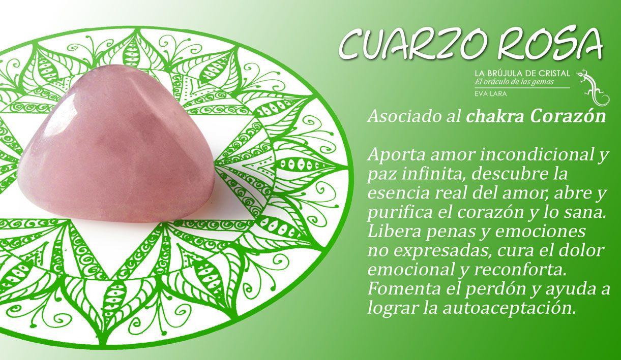 Cuarzo rosa. Chakra Corazón. #labrujuladecristal | Cuarzos y ...