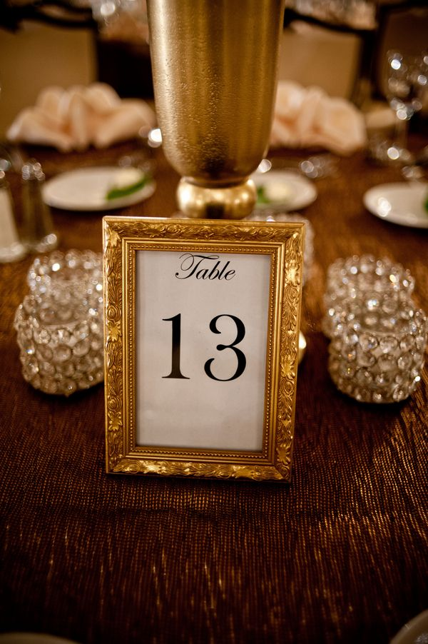 Gold Frame Table Number Wedding Table Numbers Table Numbers