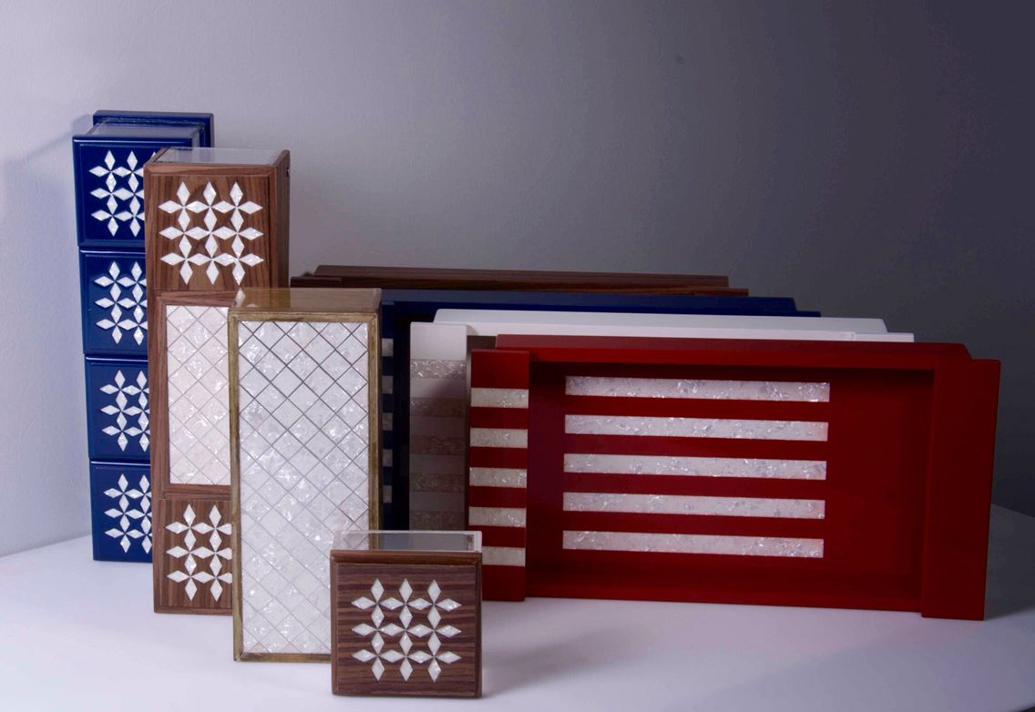 Trays and boxes made from plexiglass and wood   Available @ https://www.facebook.com/MaisonSo   MaisonSo-Riyadh-Saudi Arabia