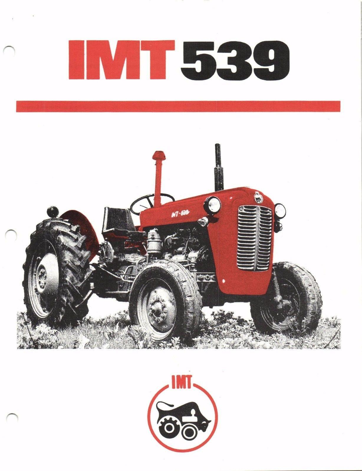 Prospectus Brochure Tracteur Tractor Traktor Prospekt IMT 539 | eBay