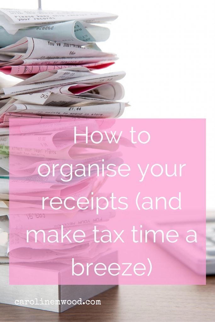 How to organise your receipts (and make tax time a breeze Organizing - make receipts free
