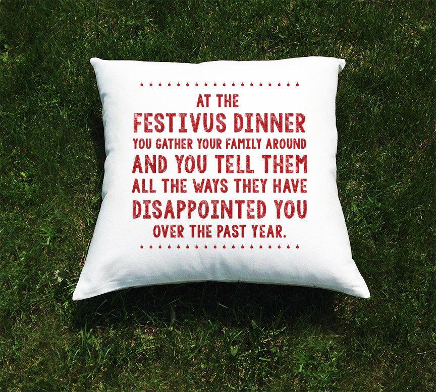 Festivus Seinfeld Christmas Throw Pillow Cover