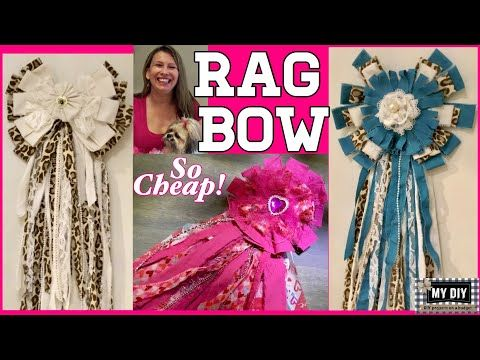Rag Bow Tutorial | Fabric Flower Tutorial | Recycle! So cheap!