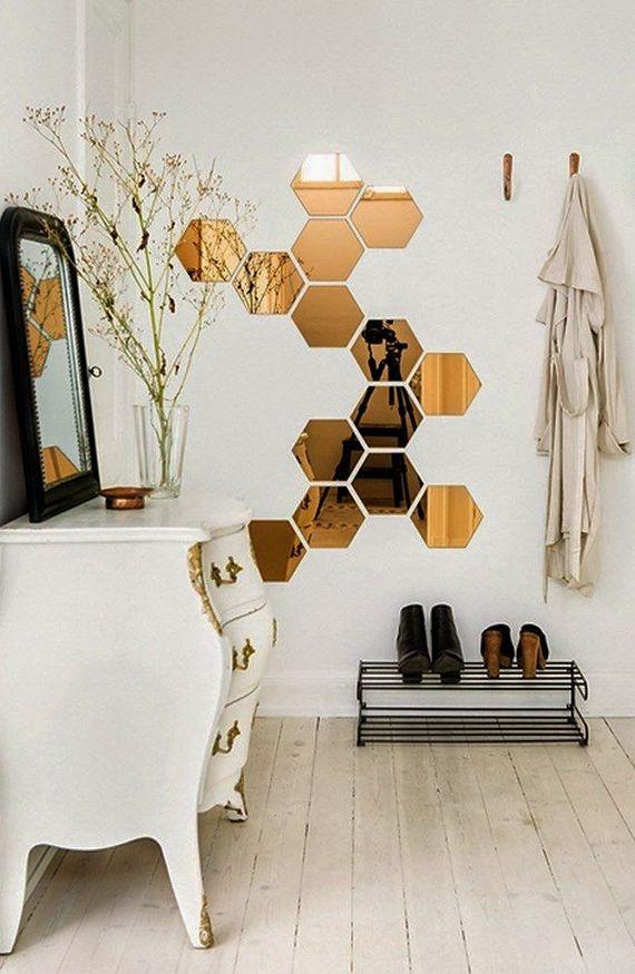 Fantastisch Sechseck Wandmuster Ideen Fuer Eine Tolle Wandgestaltung Mit Spiegeln