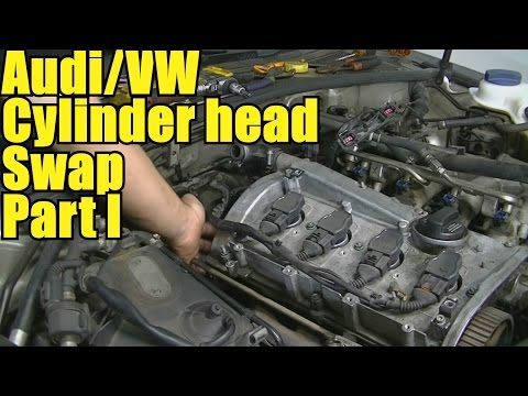 How To Remove And Replace A Cylinder Head Audi A4 A6 Vw Pat Jetta 1 8l Engine Part You