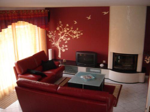 couleurs mur Salon et chambre à coucher déco Dining - couleur chaude pour une chambre