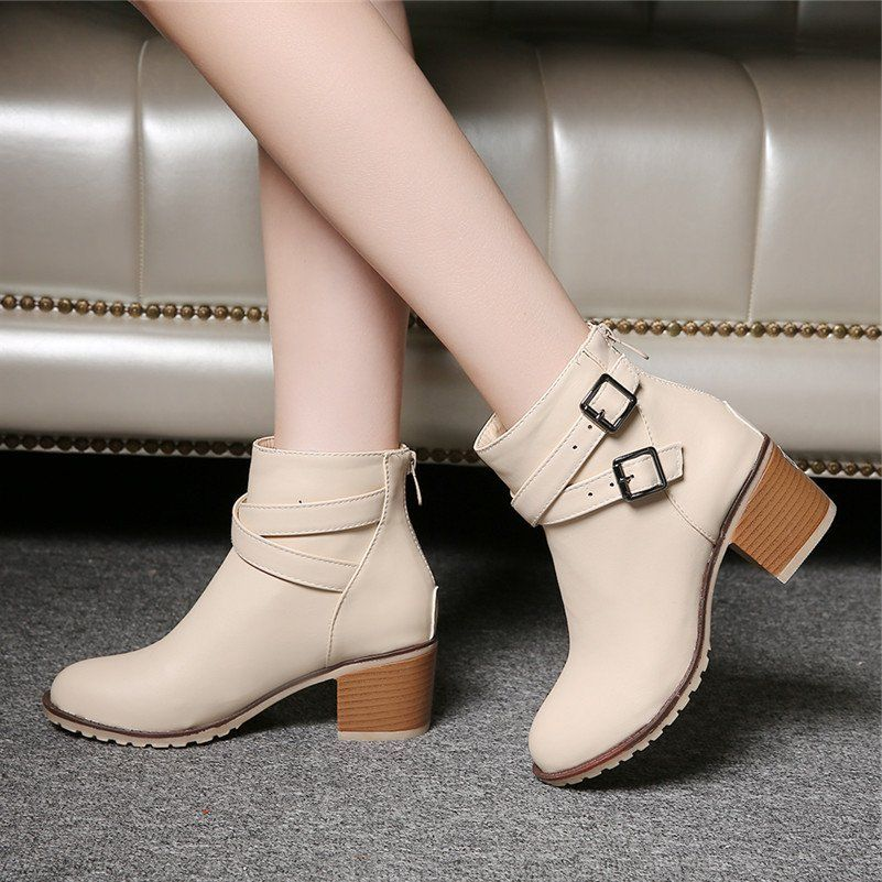Waterproof Table Shallow Mouth with the Fight Color Fashion Womens Boots Shoes Shoes   blue   EUR34  B0779PHFCT