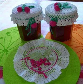 Copri barattoli ad uncinetto lavori fai da te crochet crochet potholders e crochet jar covers - Barattoli pasta cucina ...