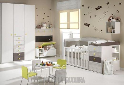 Ideas para decorar habitacion de bebe ni a o ni o dise o for Dormitorio ninos diseno