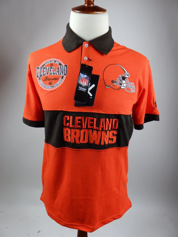 f73d1e1a Cleveland Browns Polo Rugby 1946 Short Sleeve NFL Wordmark Shirt Men Large  #KlewNFL #ClevelandBrowns