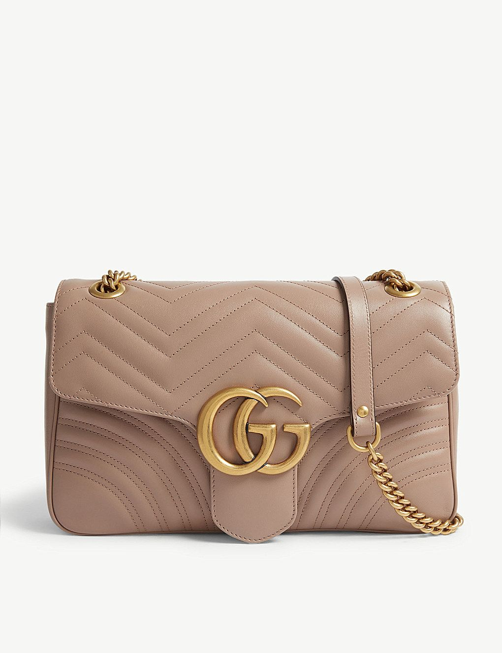 524f712332b GUCCI GG Marmont leather shoulder bag in 2019