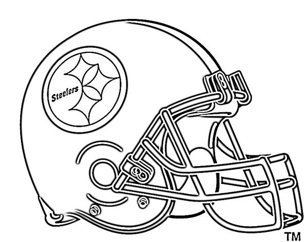 football helmet coloring pages pittsburg steelers - Free Printable Football Coloring Pages