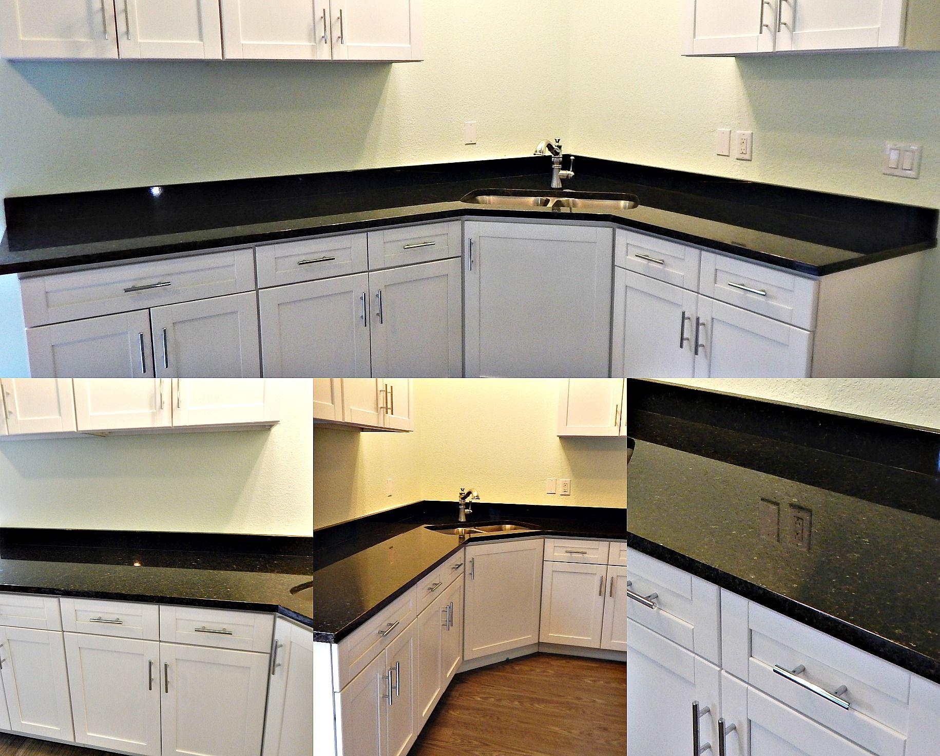 Countertop Remodel With Verde Ubatuba Granite, Flat Polish Edge And Stainless  Steel Sink.