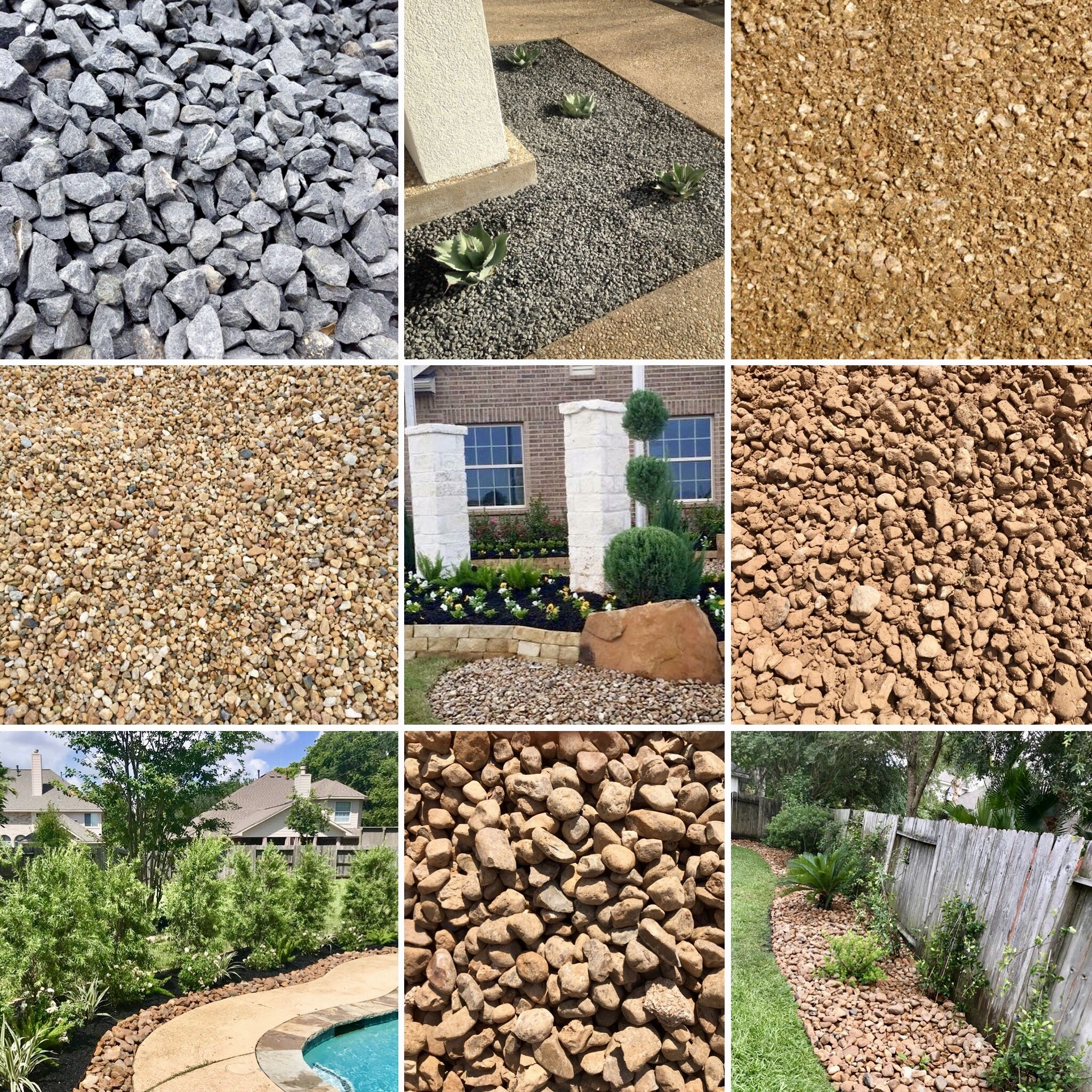 Landscaping Rock Gravel Yard Supplier Houston Tx 77099 Landscaping With Rocks Easy Backyard Backyard Landscaping