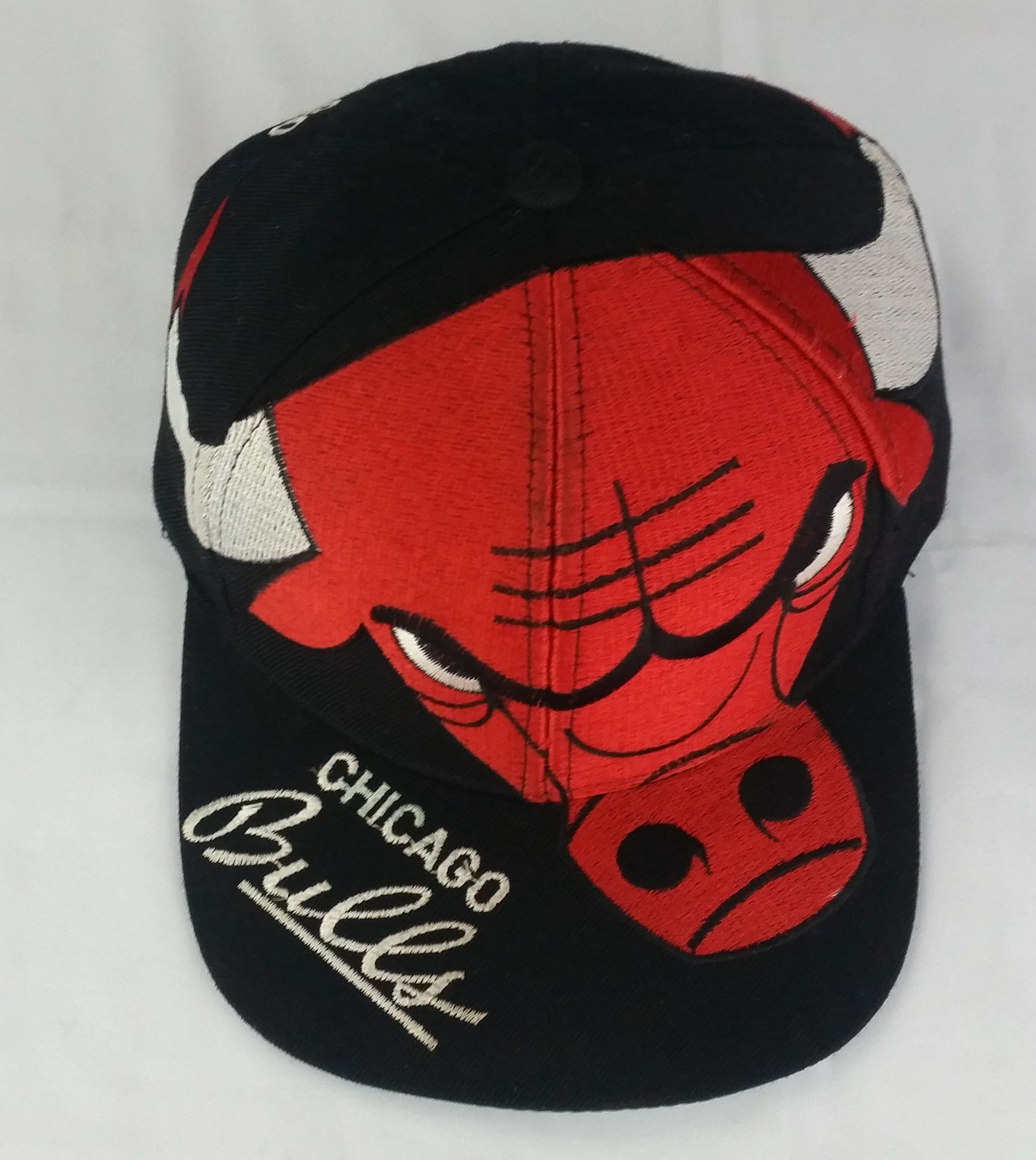 b289e6b4381 Chicago Bulls Vintage Snapback Big Logo Hat NBA Cap Rare Starter The Game  Logo7