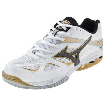 WhiteBlack Mizuno Women's Wave Spike 14 Volleyball Shoes at