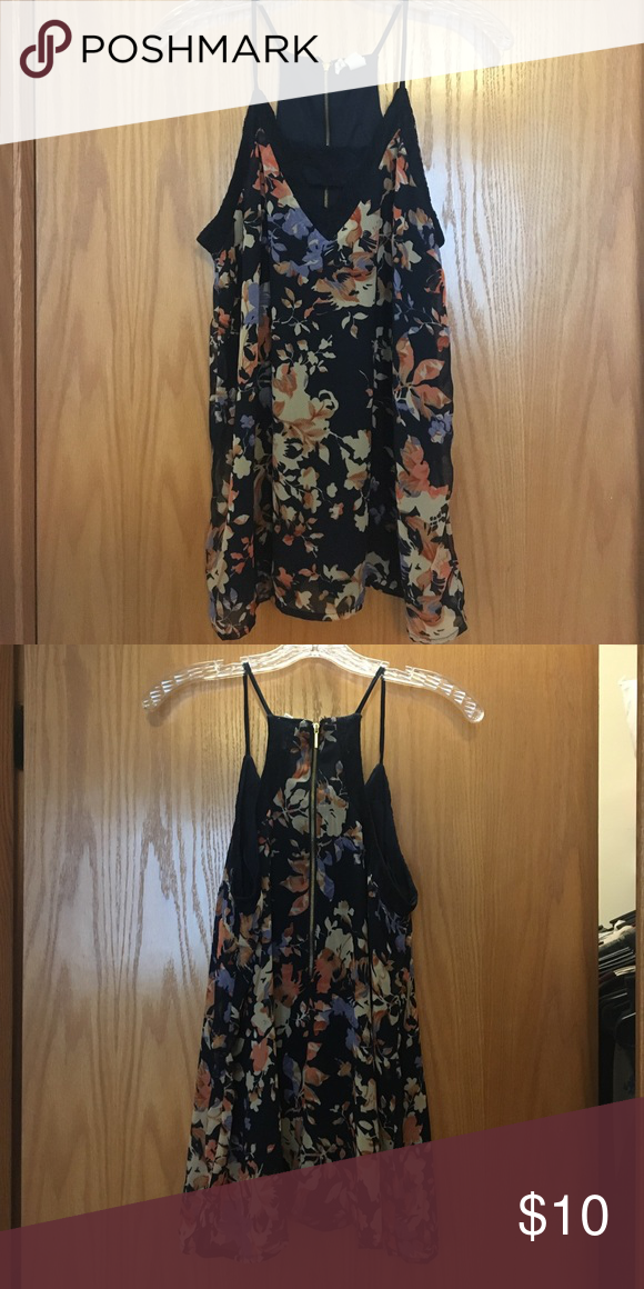 Floral Tank Only worn once! No flaws! Zipper Detail on the back. Comes from a pet and smoke free home. FINAL PRICE. Tops Tank Tops