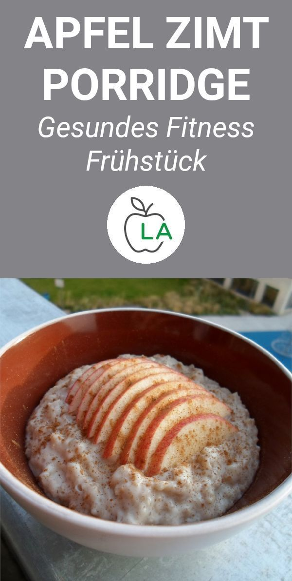 Quick apple cinnamon porridge - fitness recipe for slimming - A delicious porridge recipe with apple...