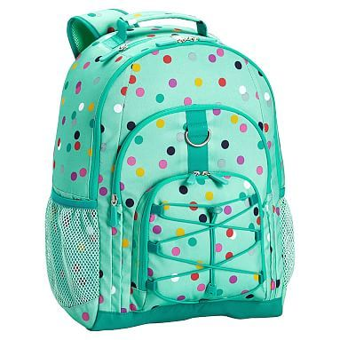 Gear Up Mint Confetti Multi Dot Backpack Backpack