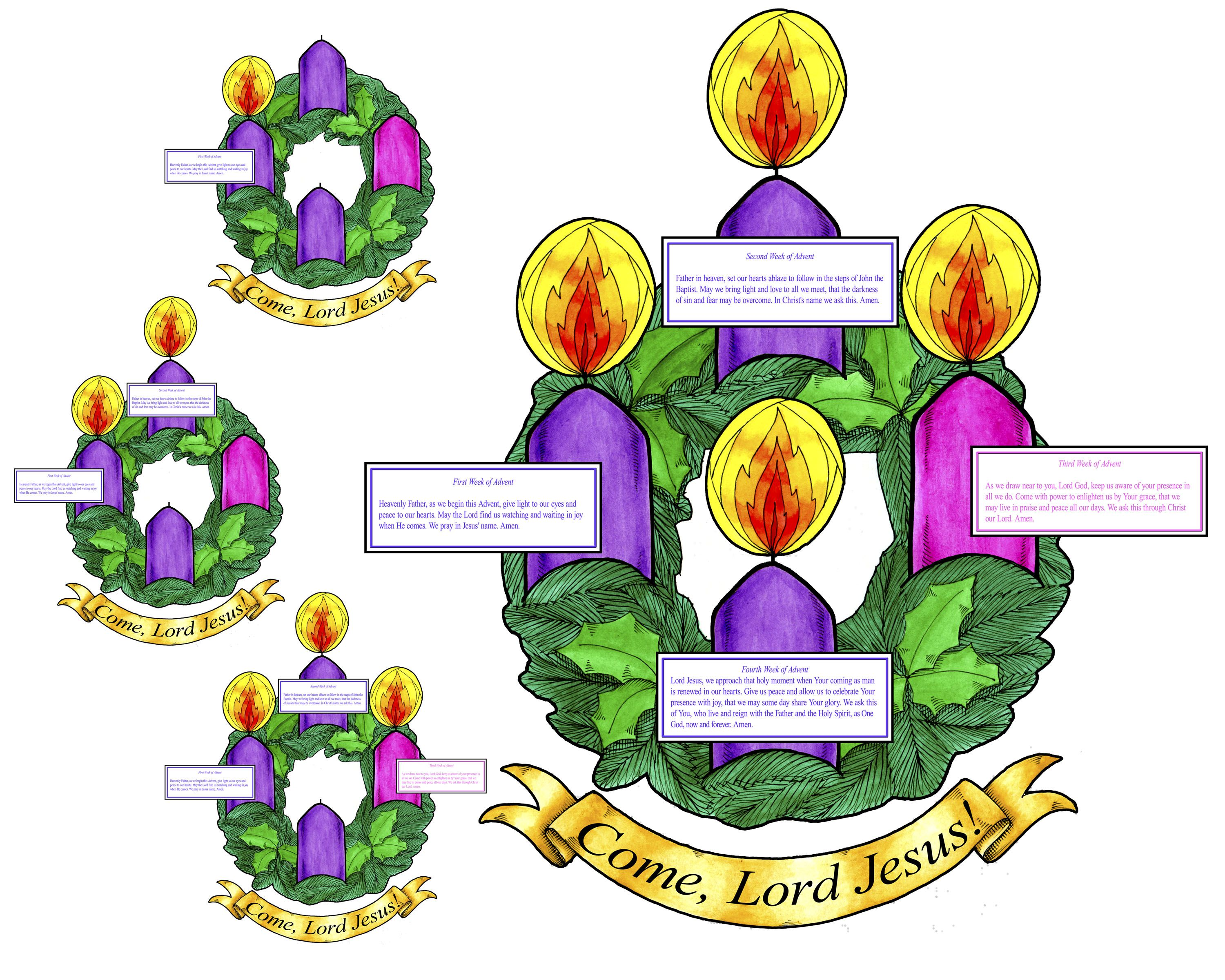 Catholic Advent Wreath Printable | New Calendar Template Site