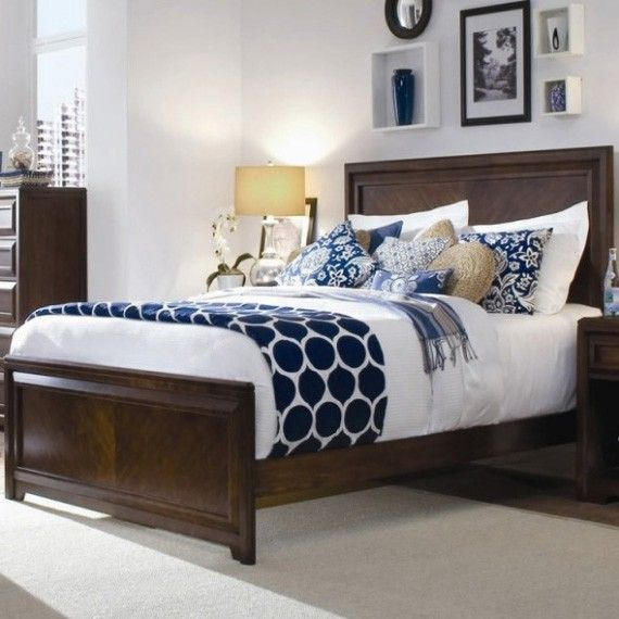 Navy Blue And Brown Bedroom Ideas Para Casa Pinterest White Bed Comforters Accent Colors