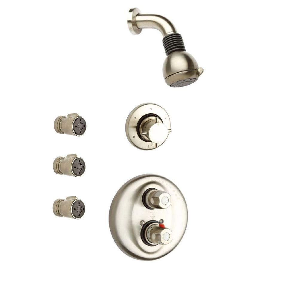 Latoscana Water Harmony 3 Handle 2 Spray Shower Faucet With 3 Body