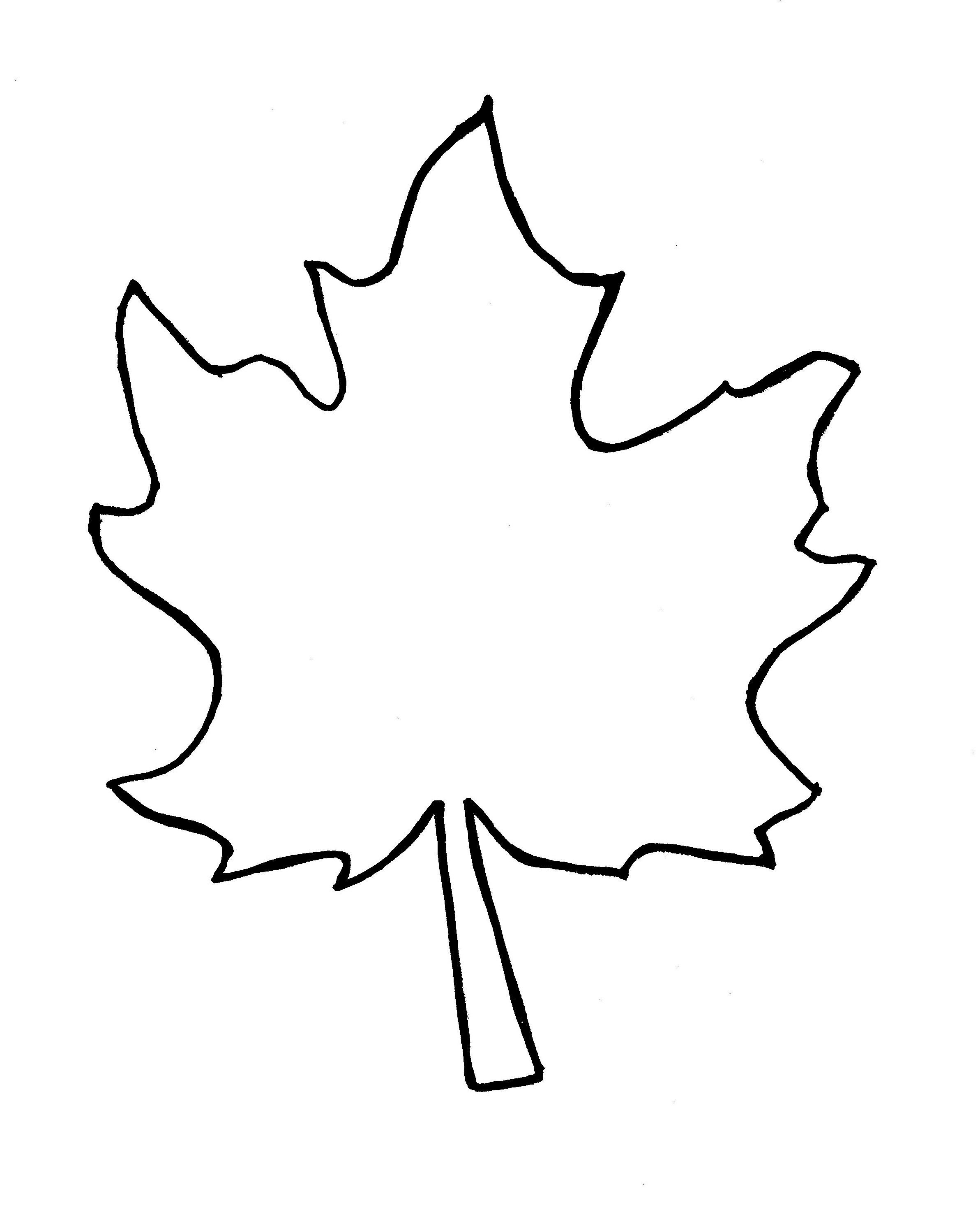 Jungle Leaf Template Cliparts Co Leaf Coloring Page Fall