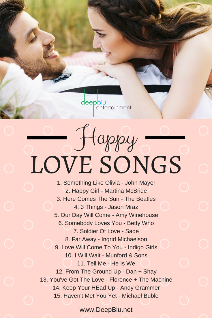 Happy Love Songs For Your Wedding Reception Music Pinterest