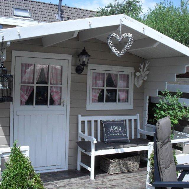 Gartenhaus schwedenstil grau  gardinen gartenhaus | nice | Pinterest | Gartenhäuser und Gardinen