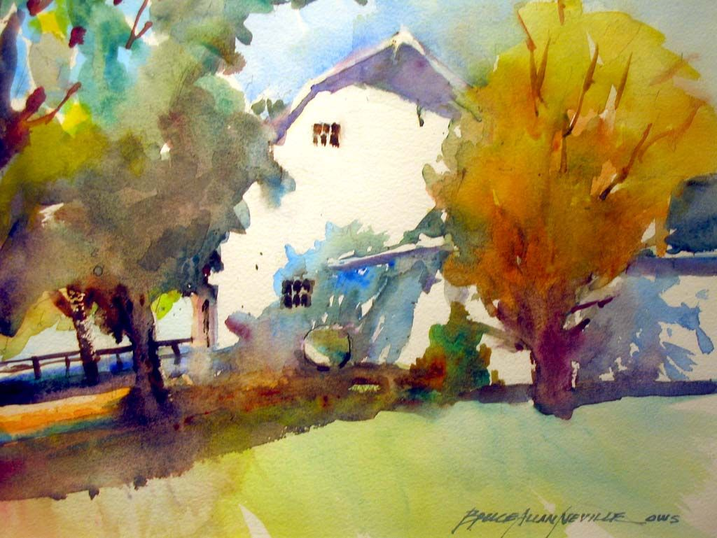 Bruce Allan Neville Cincinnati Watercolor Artist With Images
