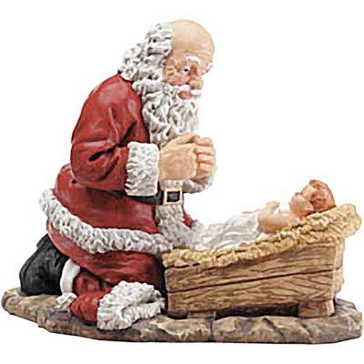 the kneeling santa figure