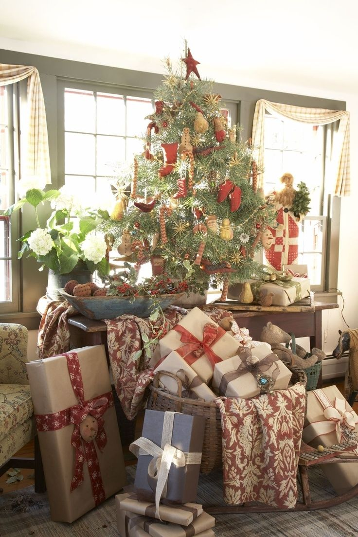 10 top christmas tree decorating ideas the daily basics - Pinterest Primitive Christmas Decorating Ideas
