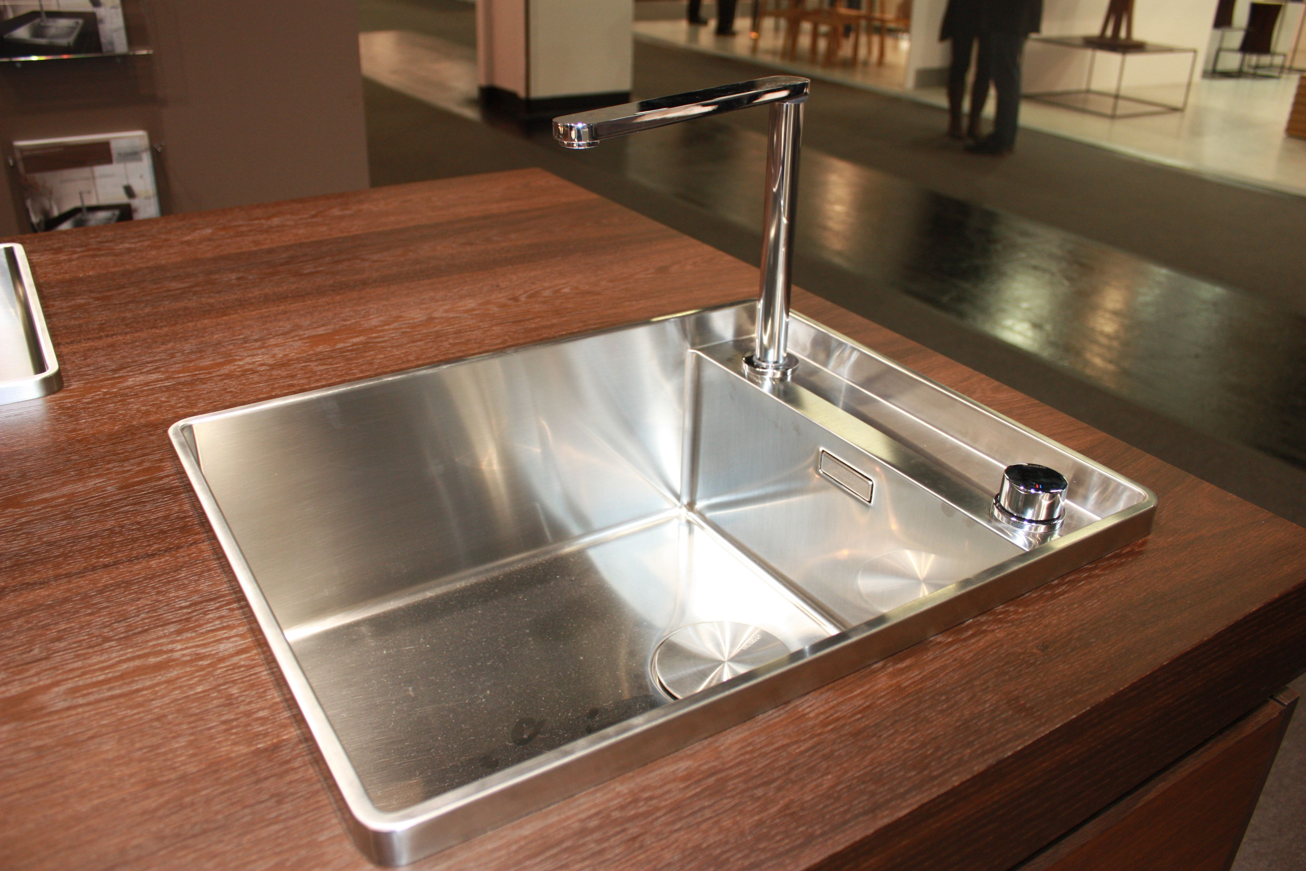 Steel Art sink and retractable faucet by Blanco. Sink will make it ...