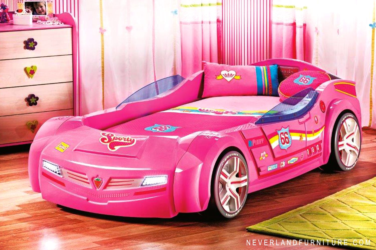 Turbo Series Pink Pacer Toddler Car Bed Car Bed Bed
