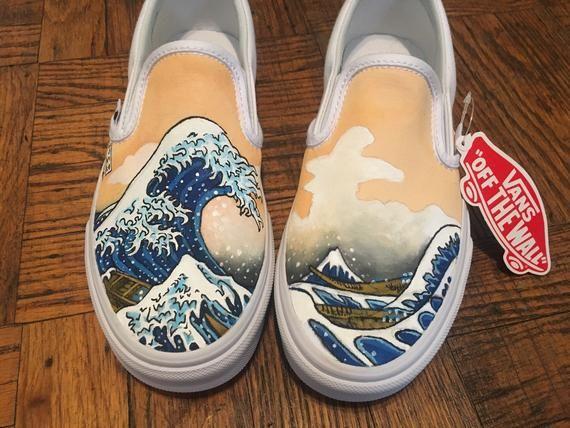 340f51019d Vans Custom Shoe Design - The Great Wave! in 2019