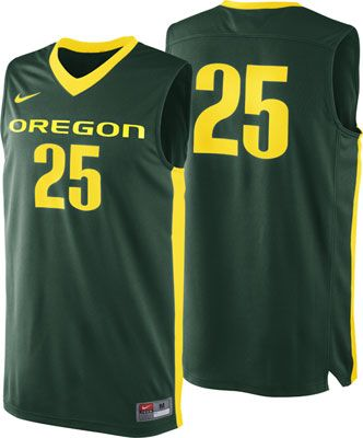 d707bd0e0 Oregon Ducks Green Nike Basketball Jersey
