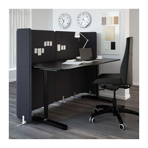 Bekant abschirmung f r schreibtisch grau office ideen pinterest schreibtisch - Grauer schreibtisch ...