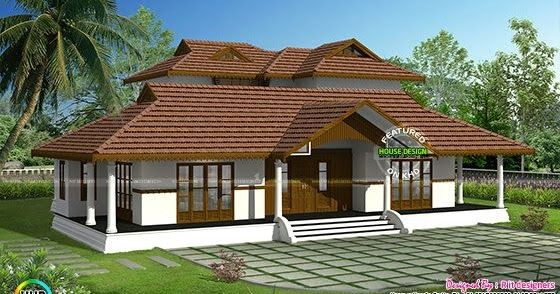 Kerala Traditional Home With Plan Kerala House Design Kerala Traditional House Village House Design
