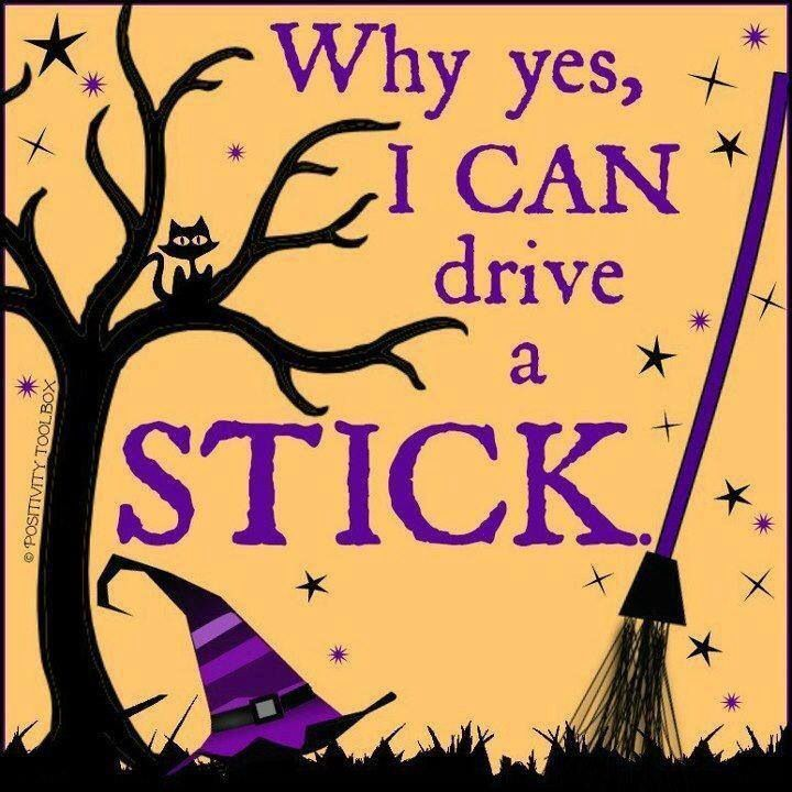 Why Yes I Can Drive A Stick Witch Broom