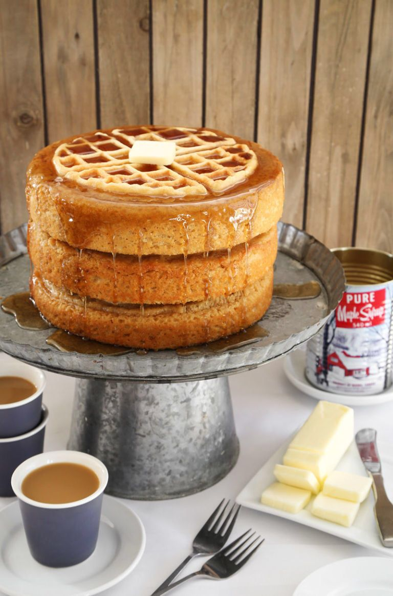 This Maple Waffle Cake Lets You Have Dessert For Breakfast