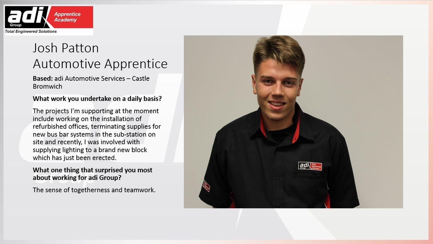 Josh shares an insight into his Apprenticeship experiences and daily routine. @Apprenticeships #NAW2016
